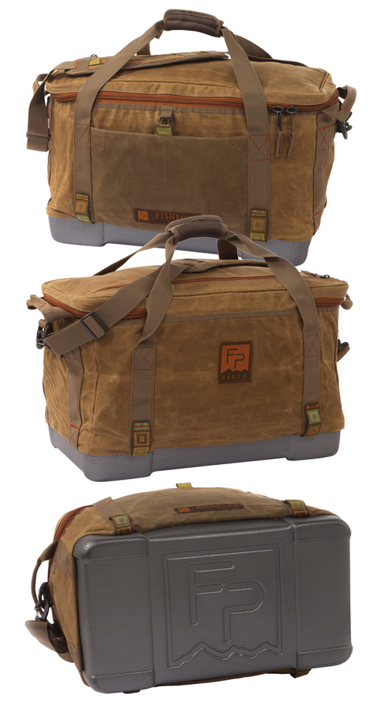 Fishpond Waxed Cotton Ice Storm Cooler, Three Views