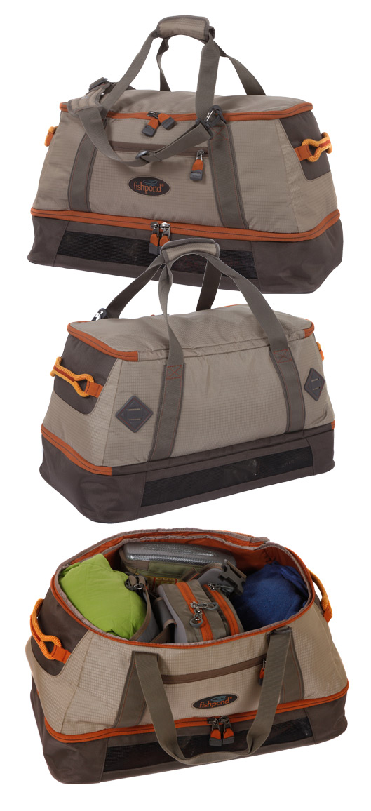 Fishpond Flattops Wader Duffel Front Back and Top views