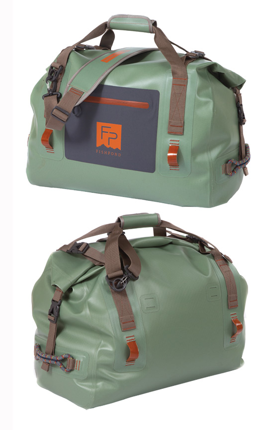 Fishpond Thunderhead Roll Top Duffel Front and Back Views