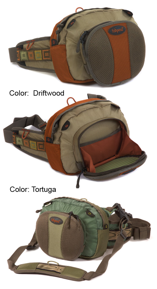 Fishpond Arroyo Chest Lumbar Pack in colors Driftwood and Tortuga.
